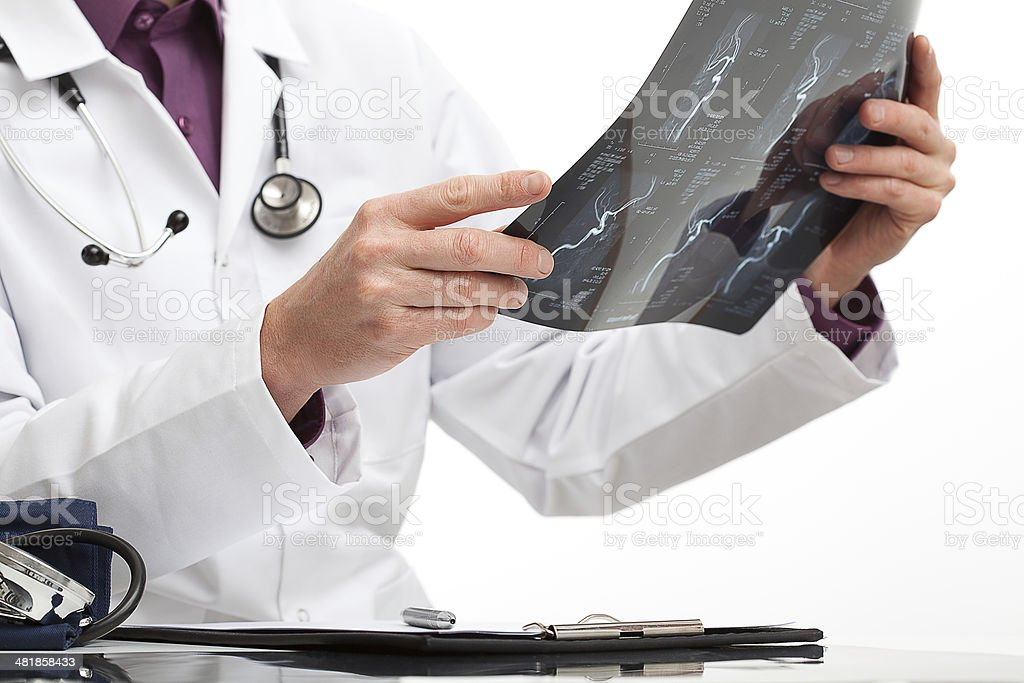 Doctor making a diagnosis for a patient stock photo