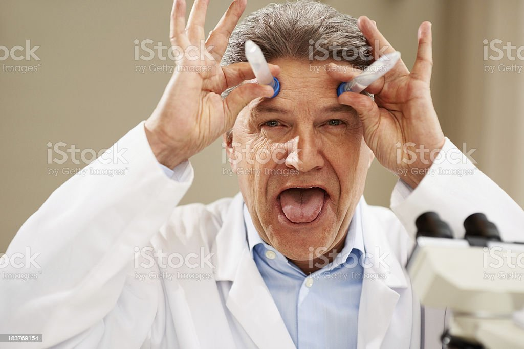 Doctor making a funny face royalty-free stock photo