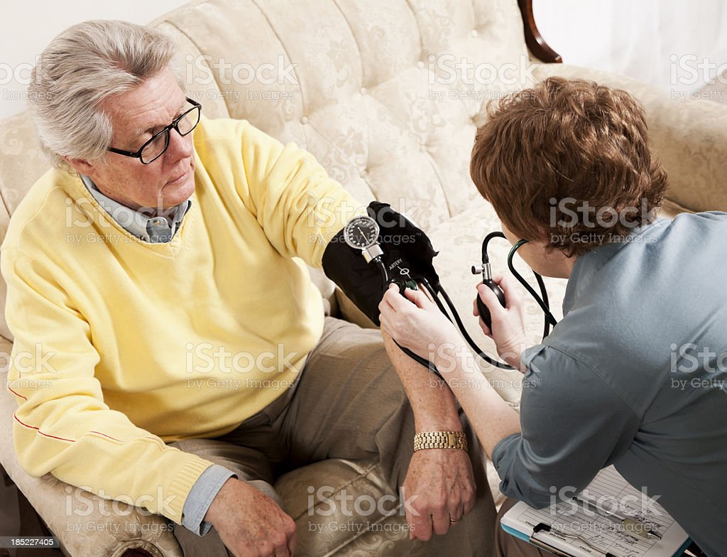 Doctor Making a House Call stock photo