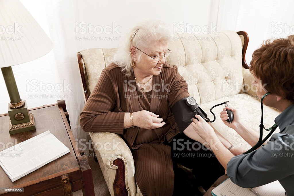 Doctor Making a House Call royalty-free stock photo