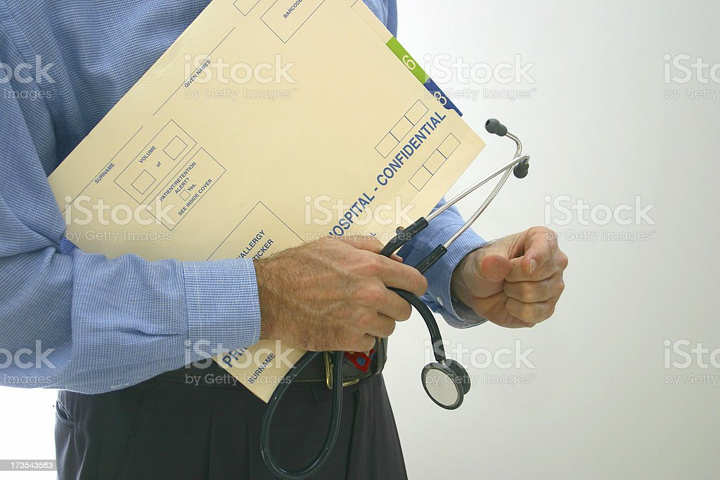 doctor measure royalty-free stock photo