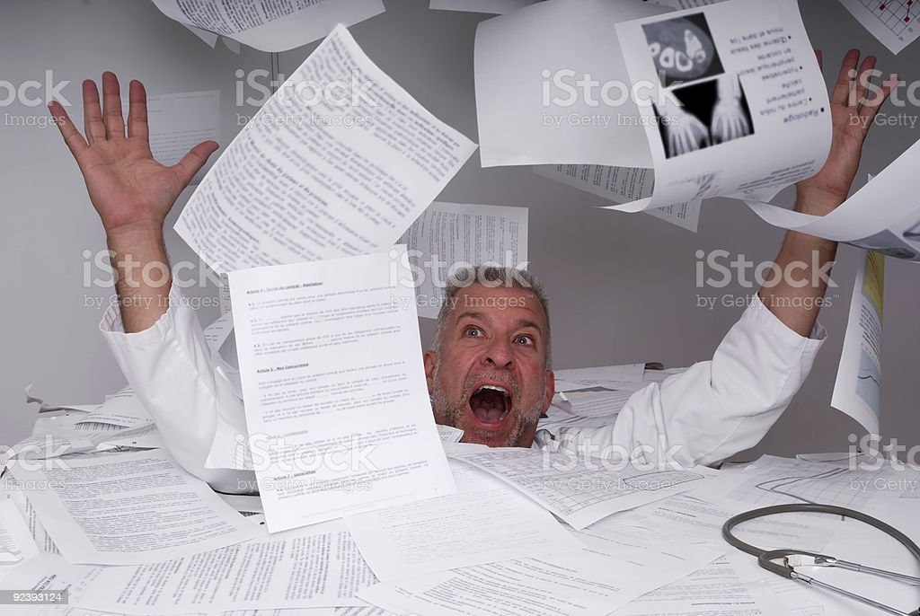 doctor needing assistance royalty-free stock photo