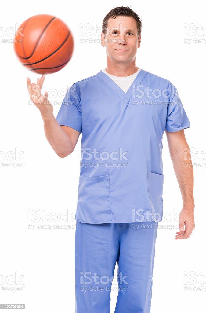 Doctor Nurse Hospital Worker on White stock photo