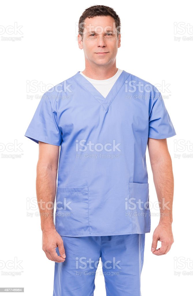 Doctor Nurse Hospital Worker on White stock photo