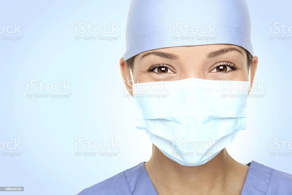 Doctor / nurse portrait stock photo