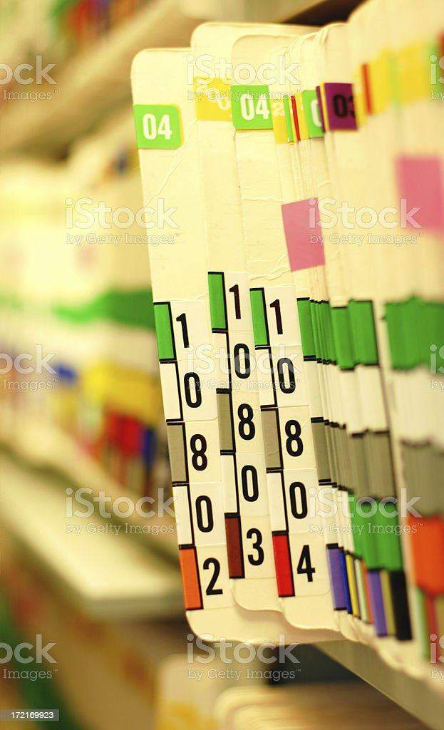 Doctor Office Records royalty-free stock photo