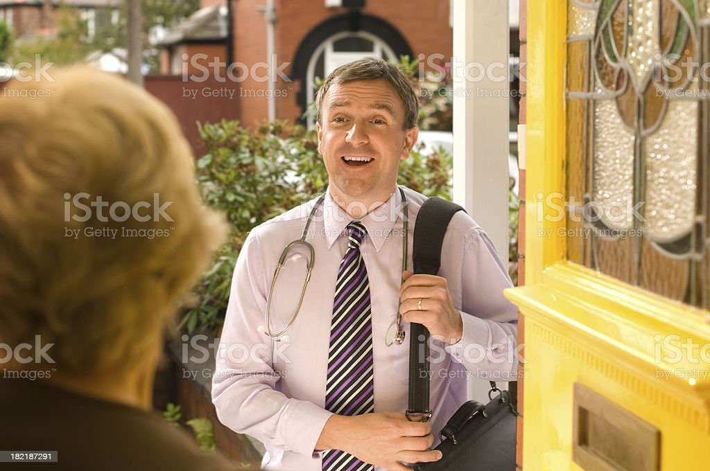 doctor on call stock photo