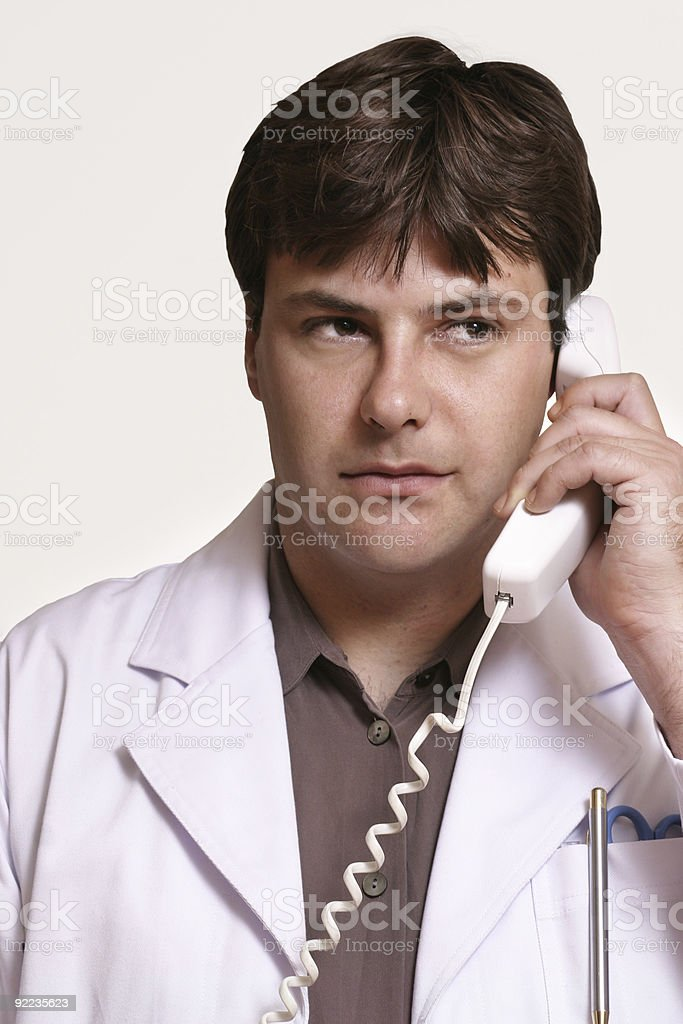 Doctor on call royalty-free stock photo