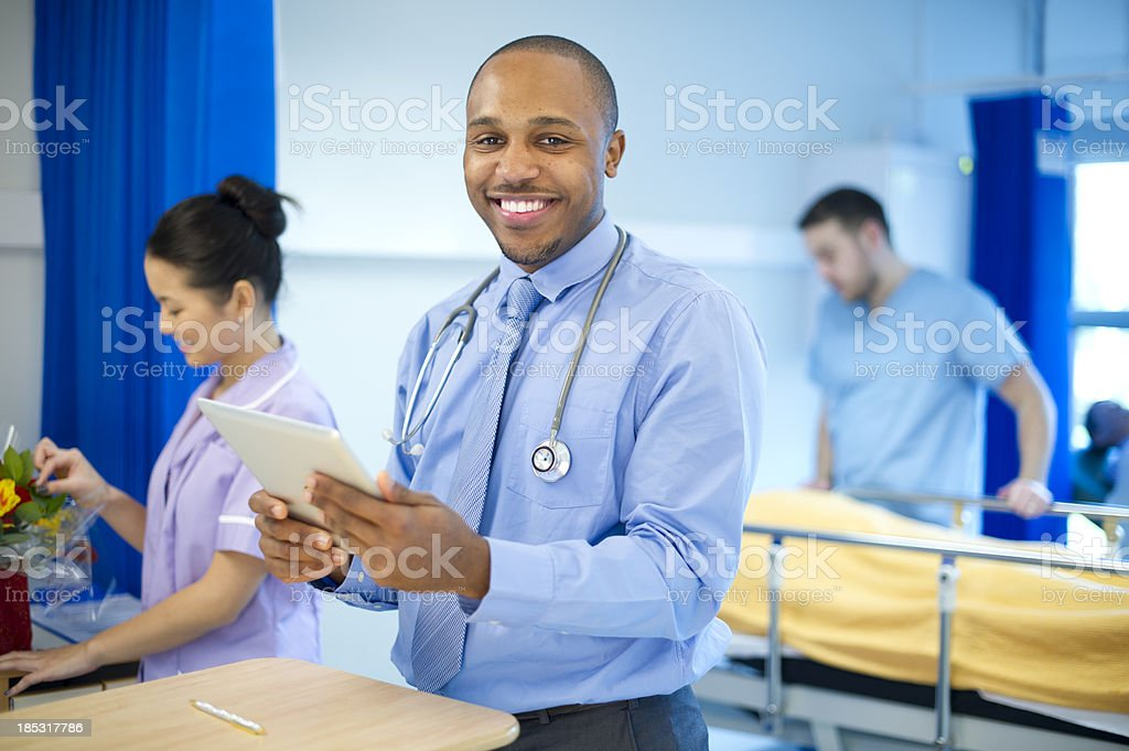 doctor on the ward royalty-free stock photo