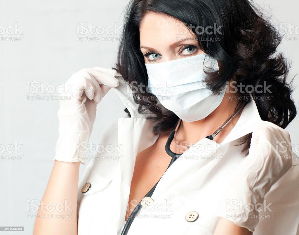 Doctor or Nurse with Stethoscope royalty-free stock photo