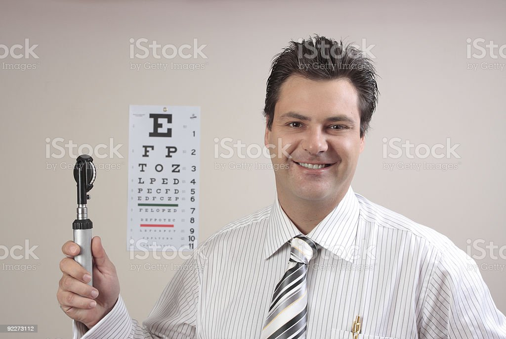 Doctor or Optometrist royalty-free stock photo