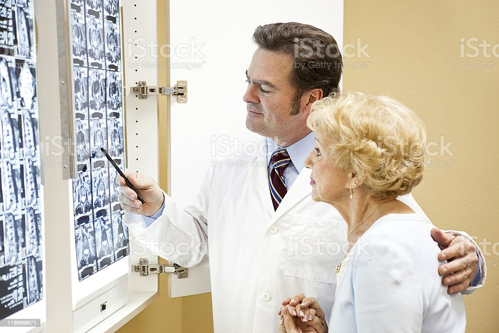 Doctor Patient Test Results royalty-free stock photo