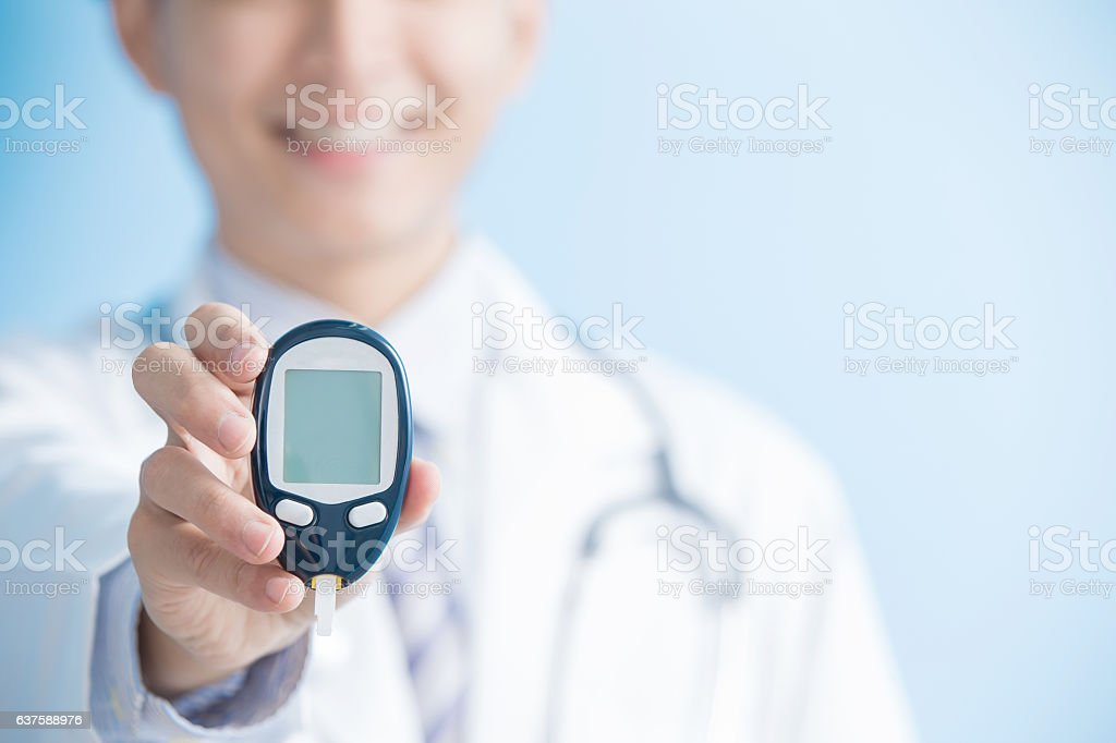 doctor prevention of diabetes stock photo