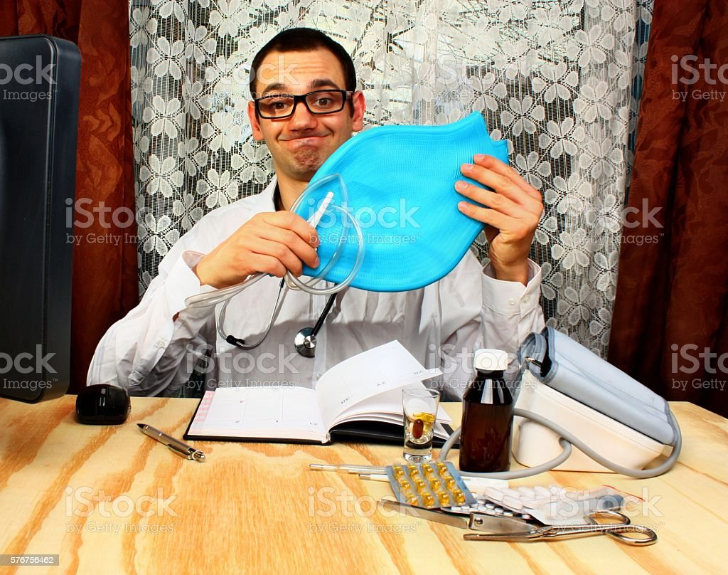 Doctor proctologist stock photo