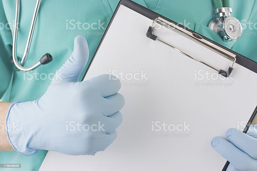 Doctor show that all is good royalty-free stock photo