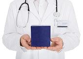 Doctor Showing Medicine Box