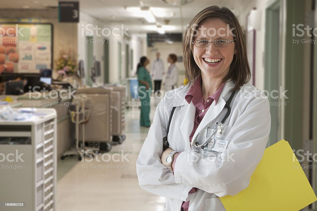 Doctor smiling royalty-free stock photo