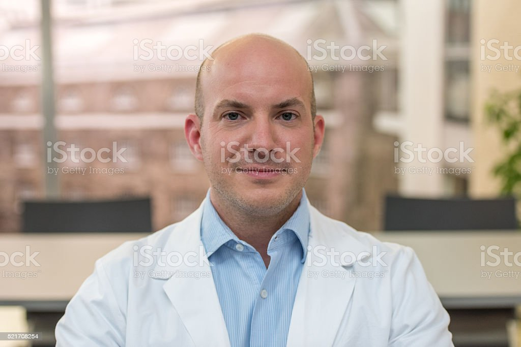 Doctor smiling stock photo