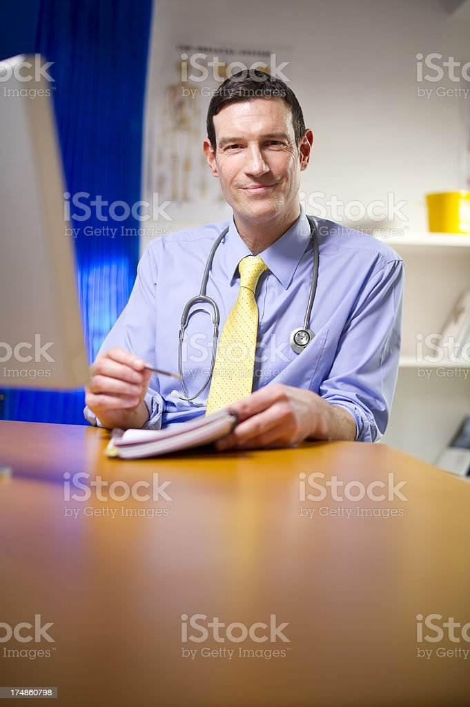 doctor smiling to camera royalty-free stock photo