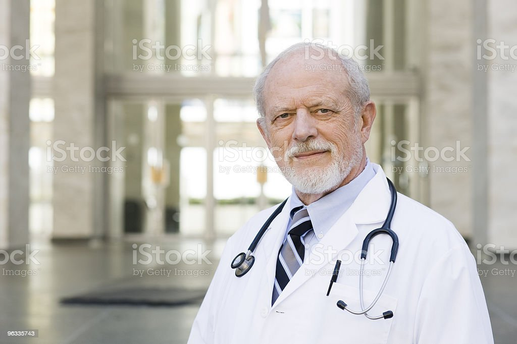 Doctor Standing Outside royalty-free stock photo