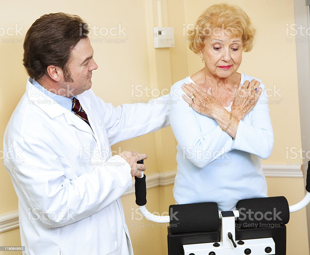Doctor Supervised Physical Therapy royalty-free stock photo