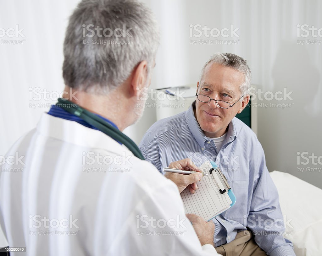 Doctor Talking To Patient royalty-free stock photo