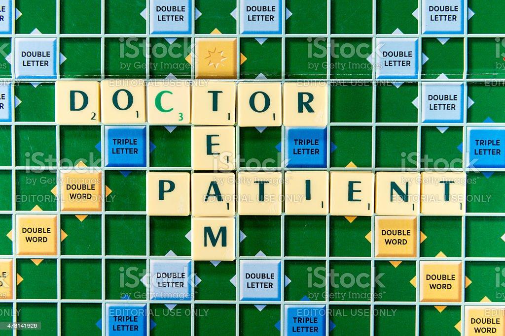 doctor team patient stock photo