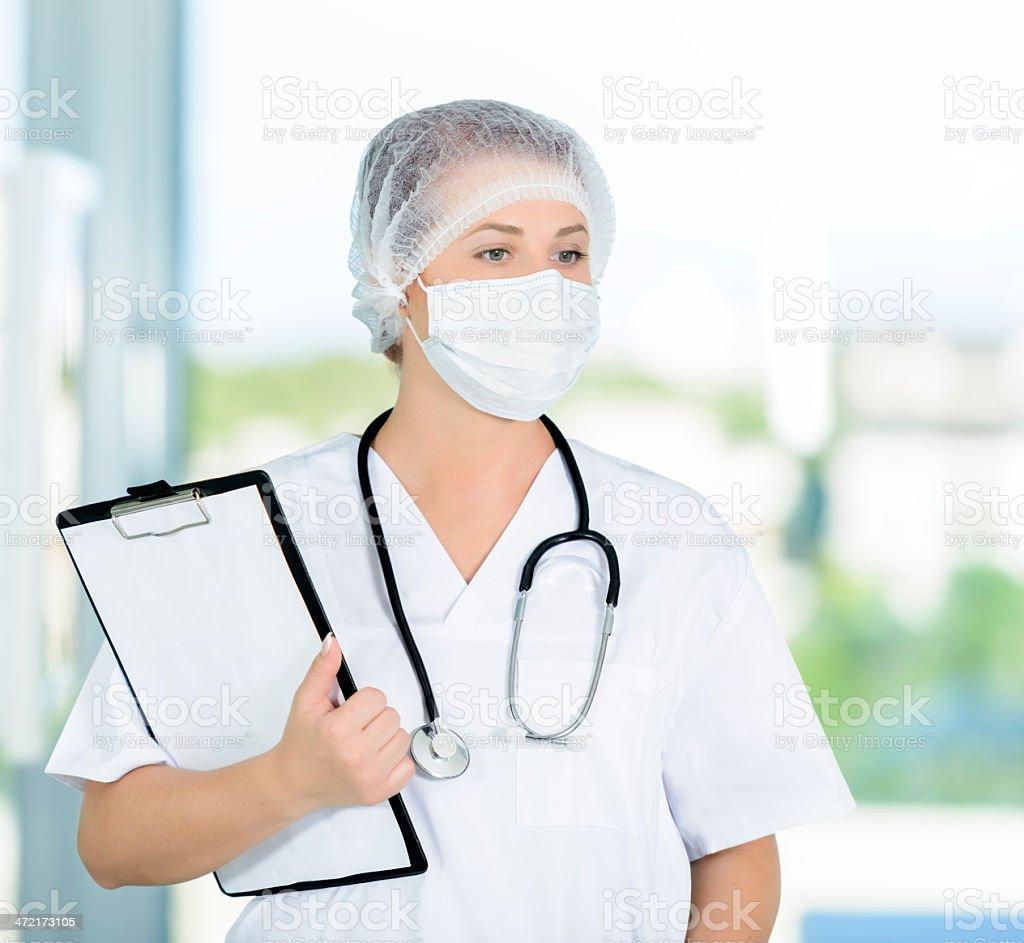doctor thinking royalty-free stock photo