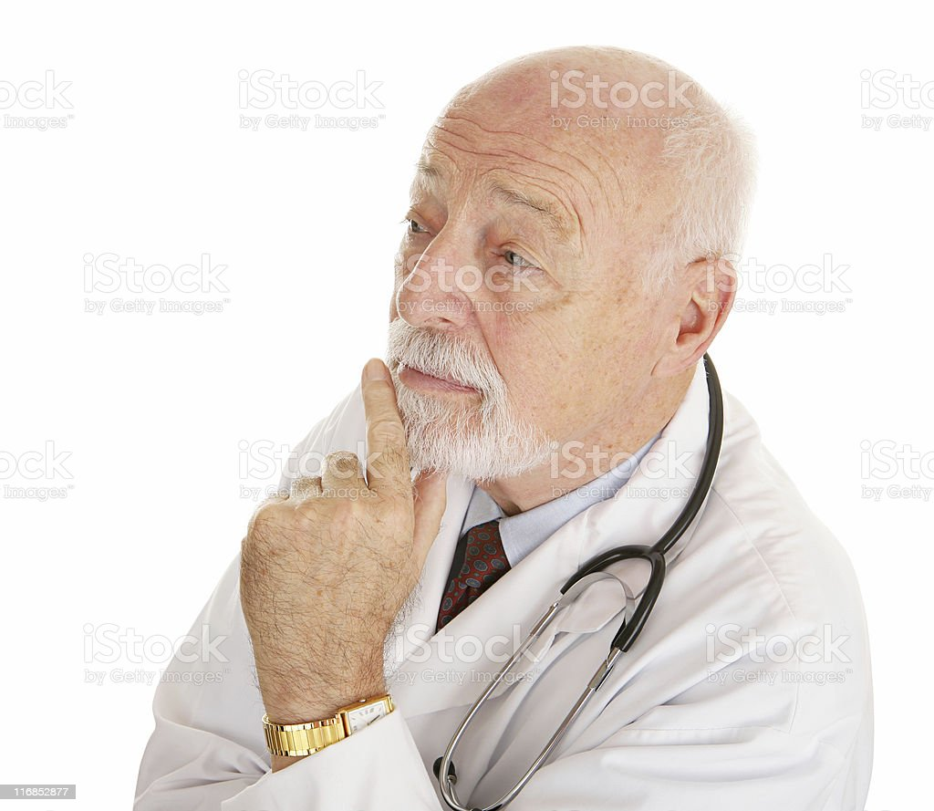 Doctor - Thinks it Over royalty-free stock photo