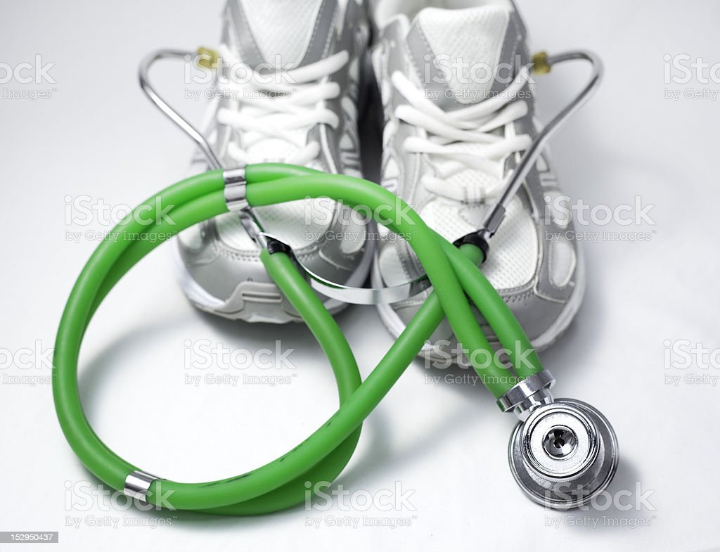 Doctor trainer. royalty-free stock photo