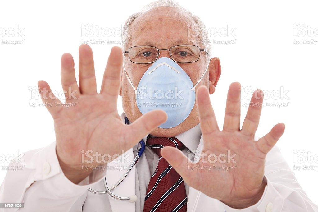 Doctor warning royalty-free stock photo