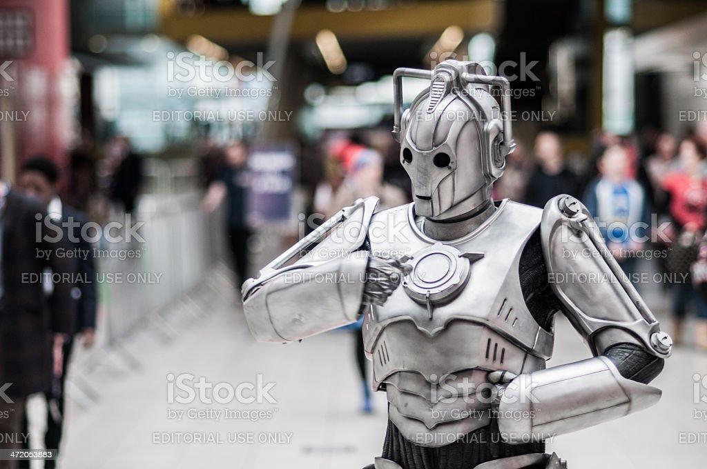Doctor Who Celebration 2013 - Cyberman Posing stock photo