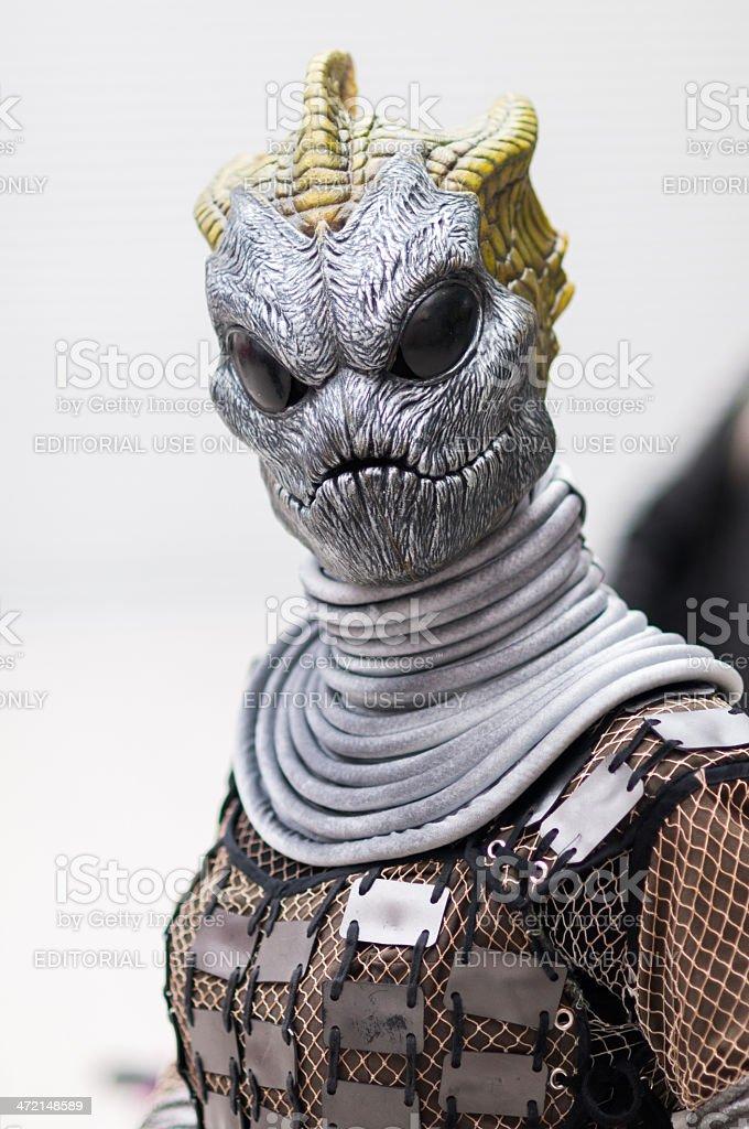 Doctor Who Celebration 2013 - Silurian Portrait stock photo