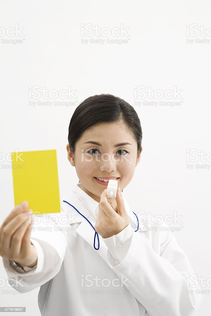 Doctor who warns stock photo