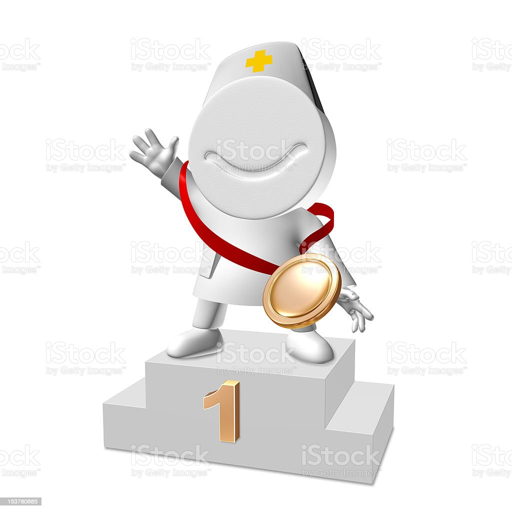Doctor wins 1st Place stock photo