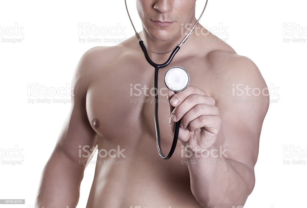 doctor with a beautiful body royalty-free stock photo