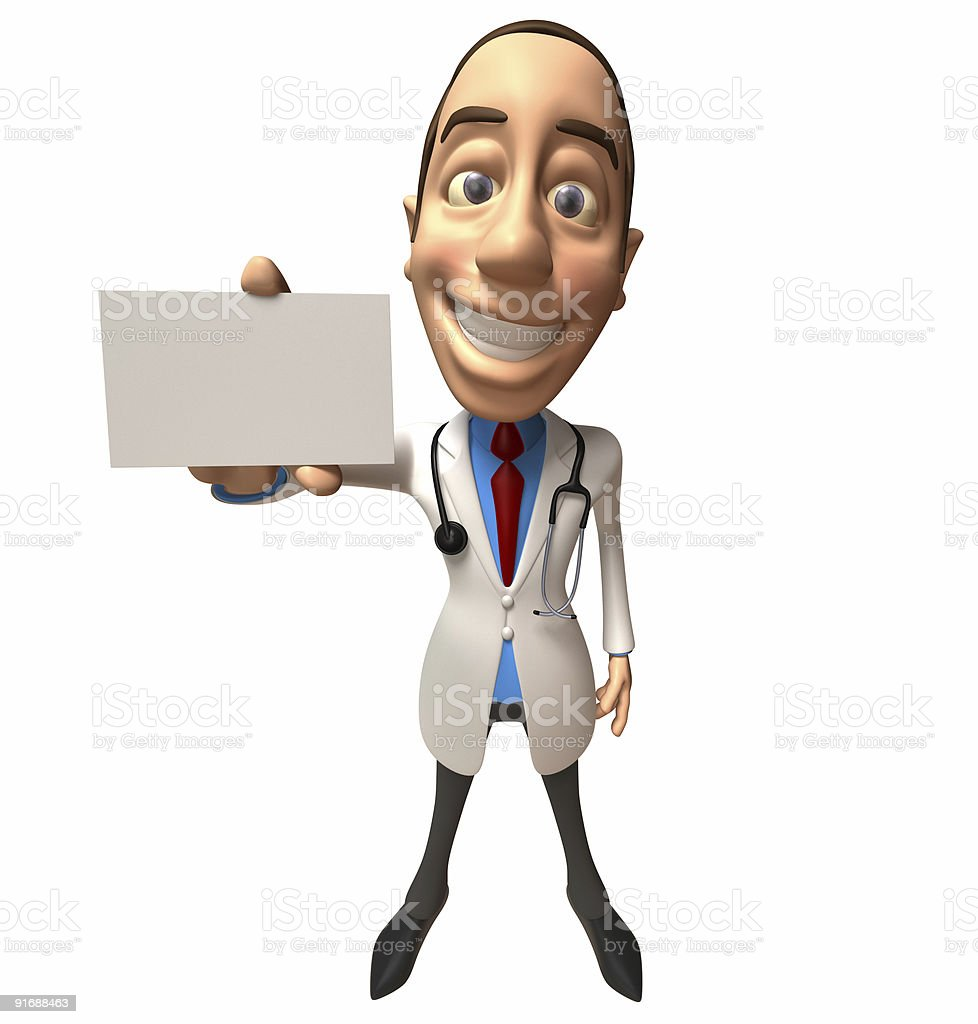 Doctor with blank card royalty-free stock photo