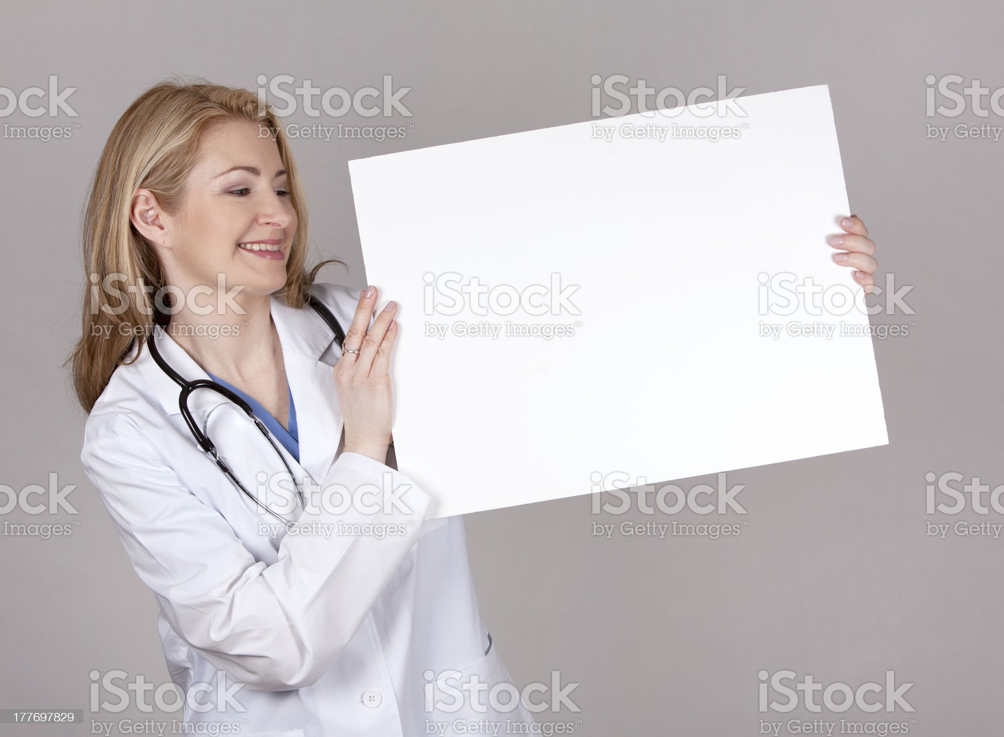 doctor with board royalty-free stock photo