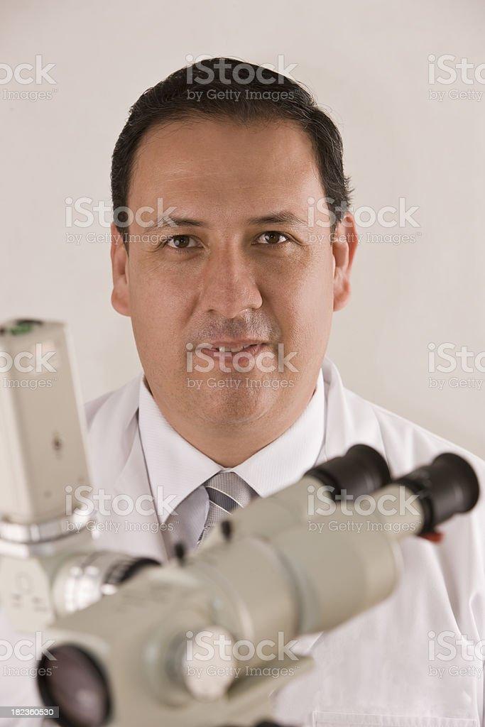 Doctor with Colposcope stock photo