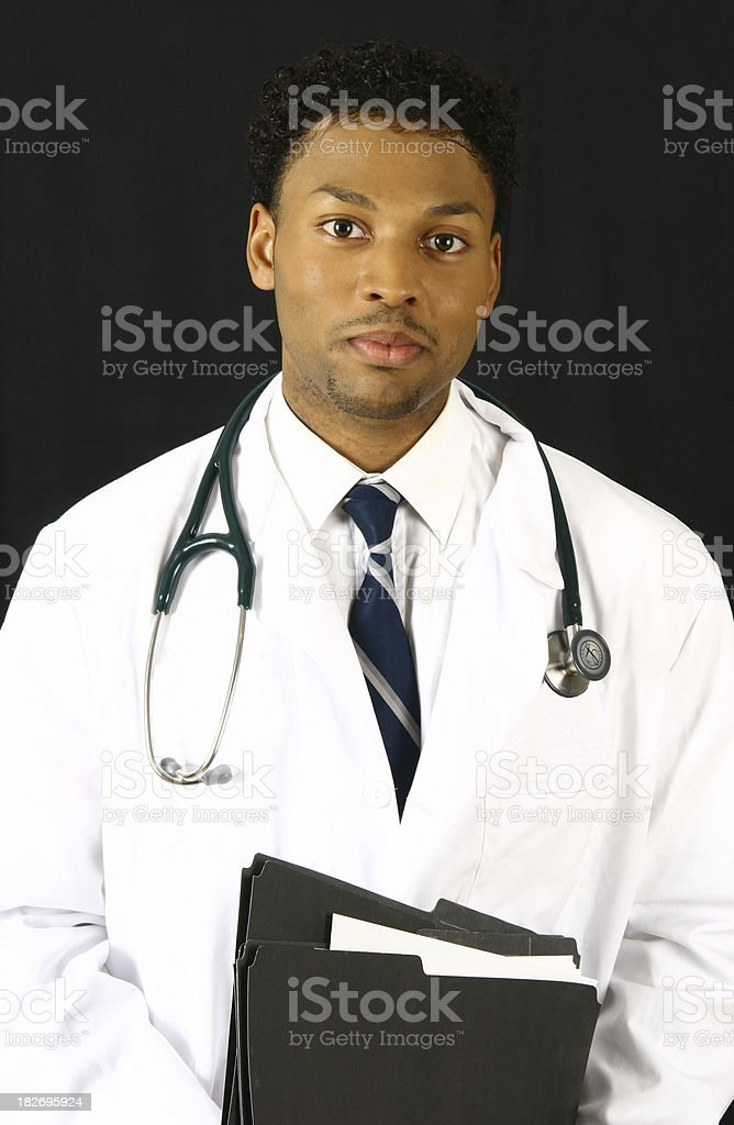 Doctor with folders stock photo
