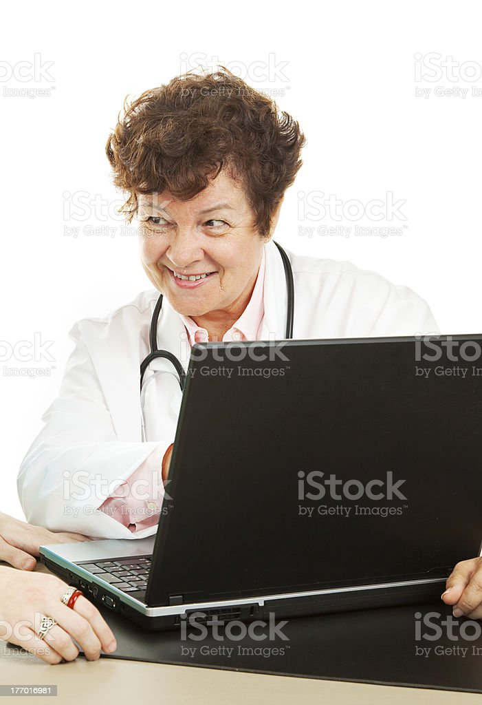 Doctor with Good News royalty-free stock photo