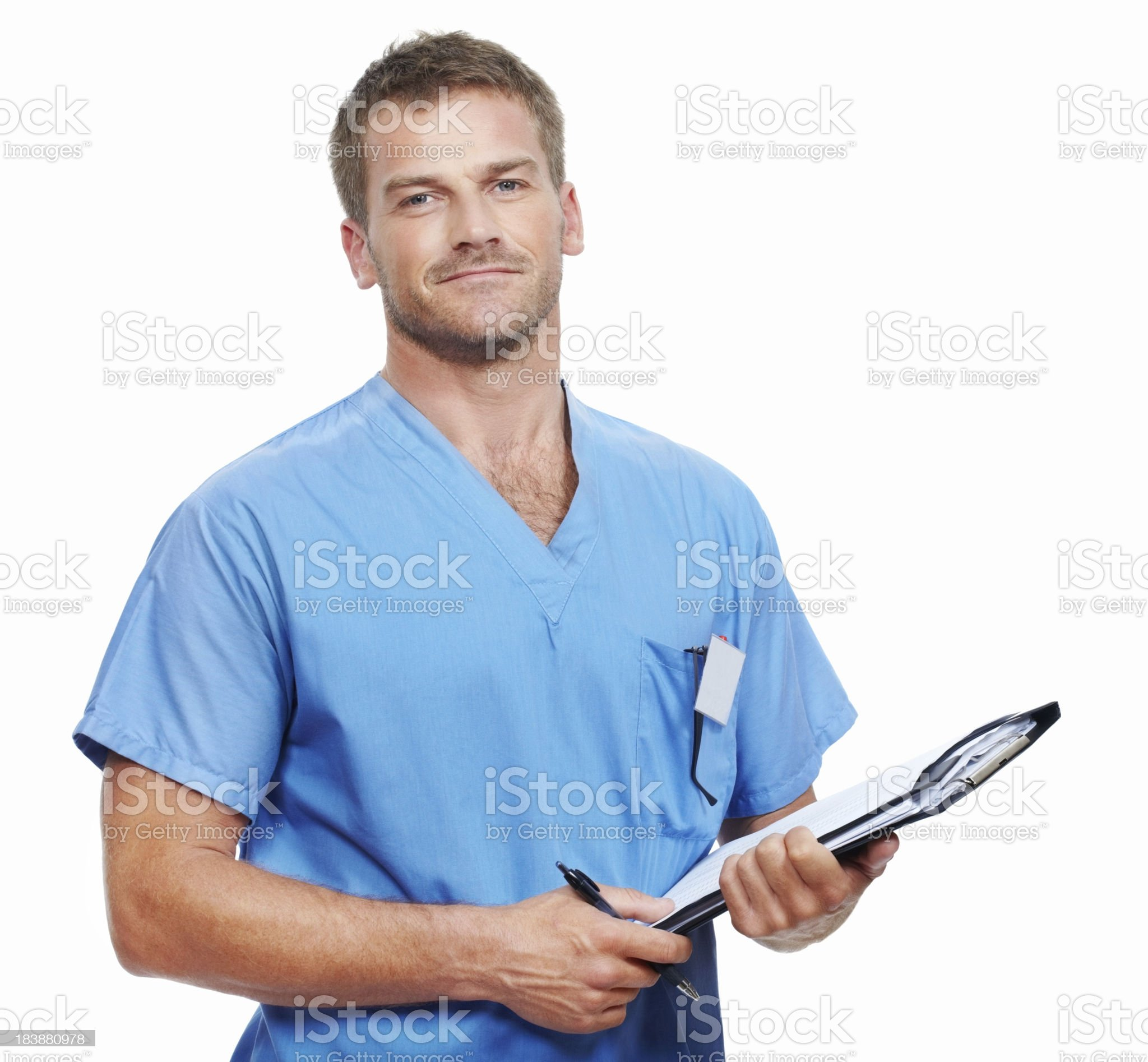 Doctor with medical reports royalty-free stock photo