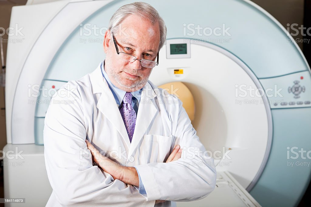 Doctor with MRI scanner royalty-free stock photo