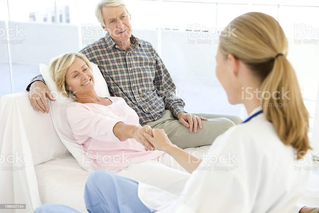 Doctor with patients royalty-free stock photo