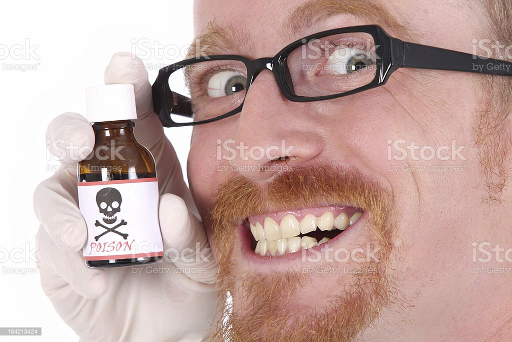 doctor with poison bottle royalty-free stock photo