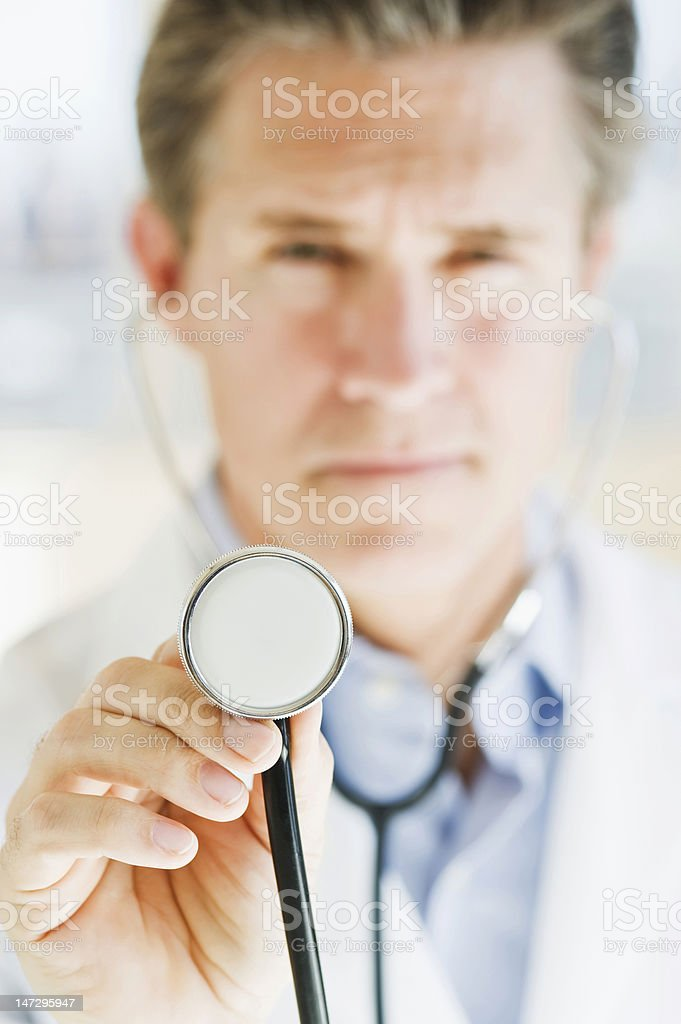 doctor with stethescope royalty-free stock photo