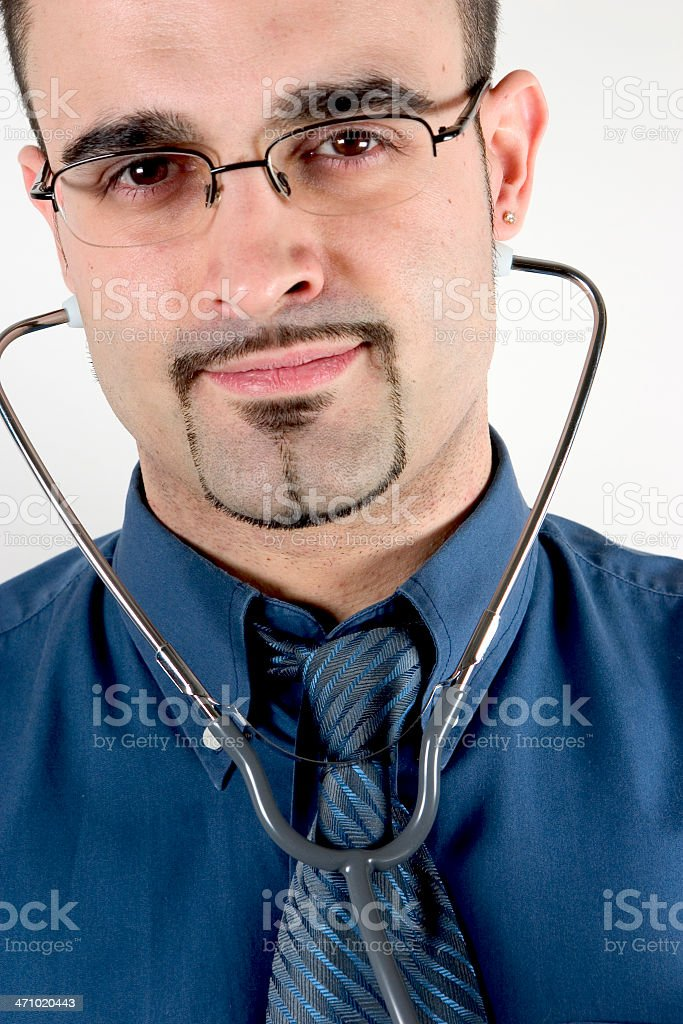 doctor with stethoscope royalty-free stock photo