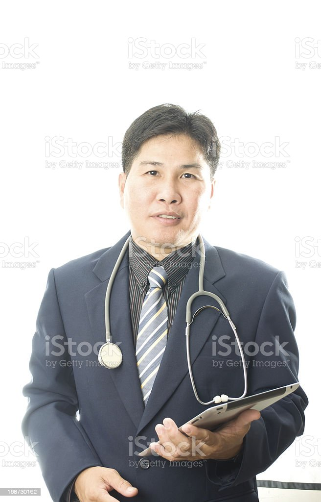 Doctor with tablet computer royalty-free stock photo