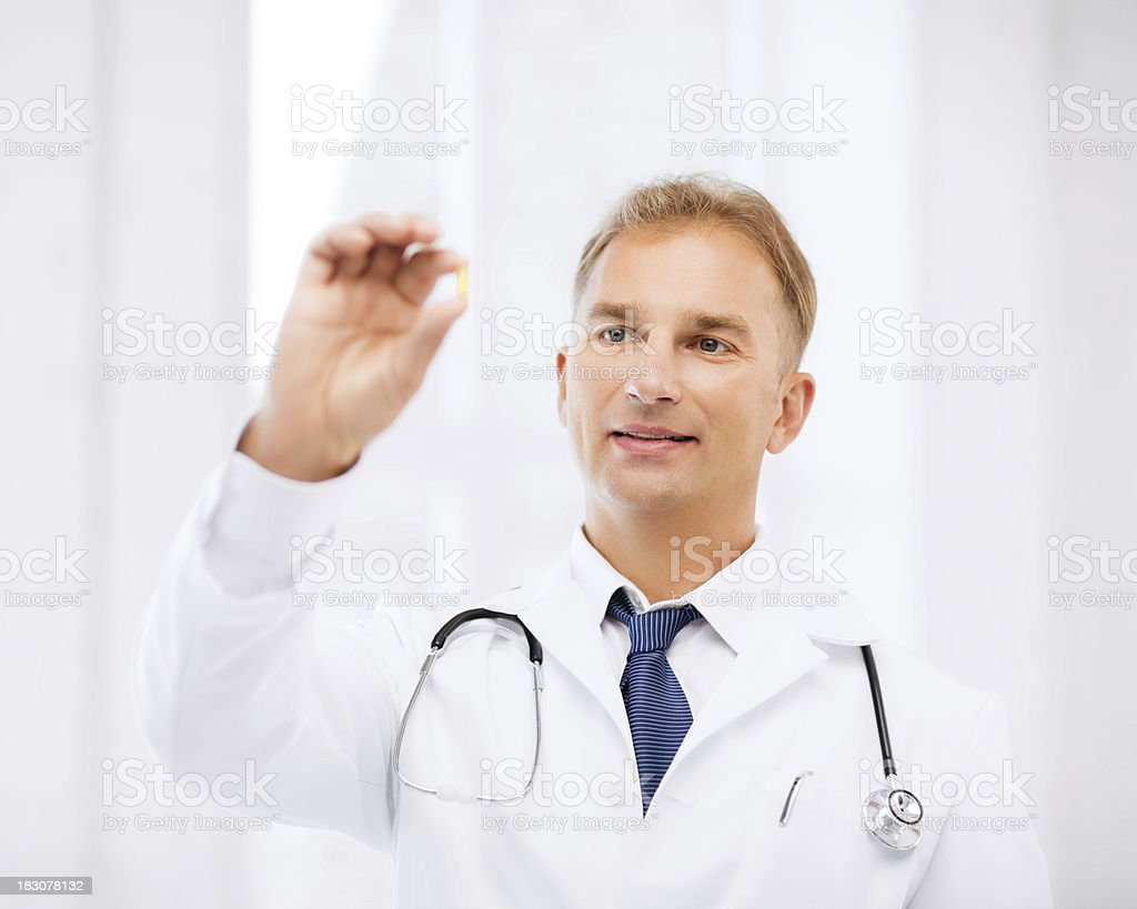 doctor with tablet in hospital royalty-free stock photo