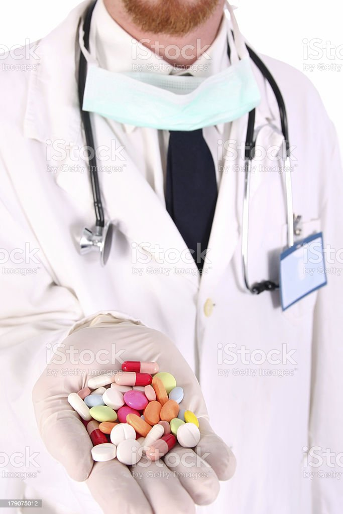 doctor with tablets royalty-free stock photo